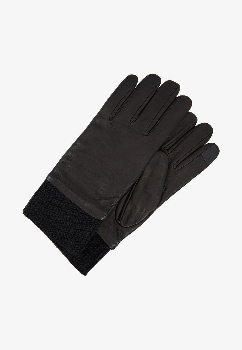 Calvin Klein Jeans - CUFF GLOVES - Gloves - black