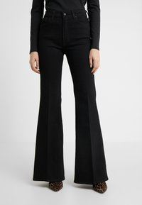 7 for all mankind - FLARE - Flared Jeans - black - 0