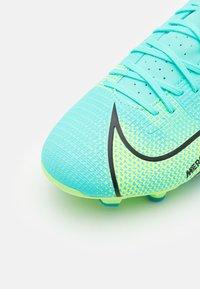 Nike Performance - MERCURIAL VAPOR 14 ACADEMY FG/MG - Tekonurmikengät - dynamic turquoise/lime glow - 5