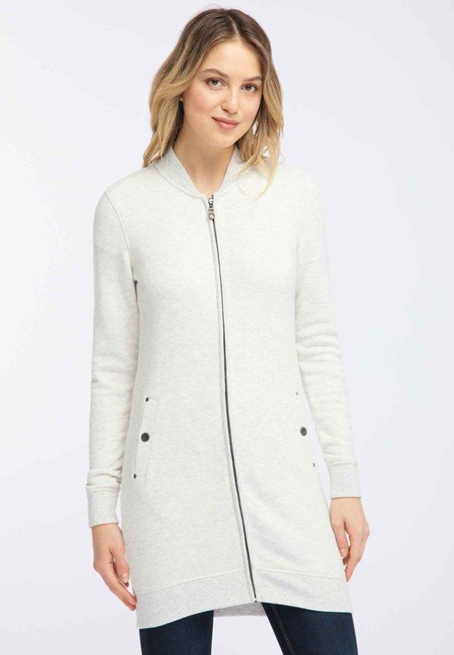 Cardigan - wool white melange