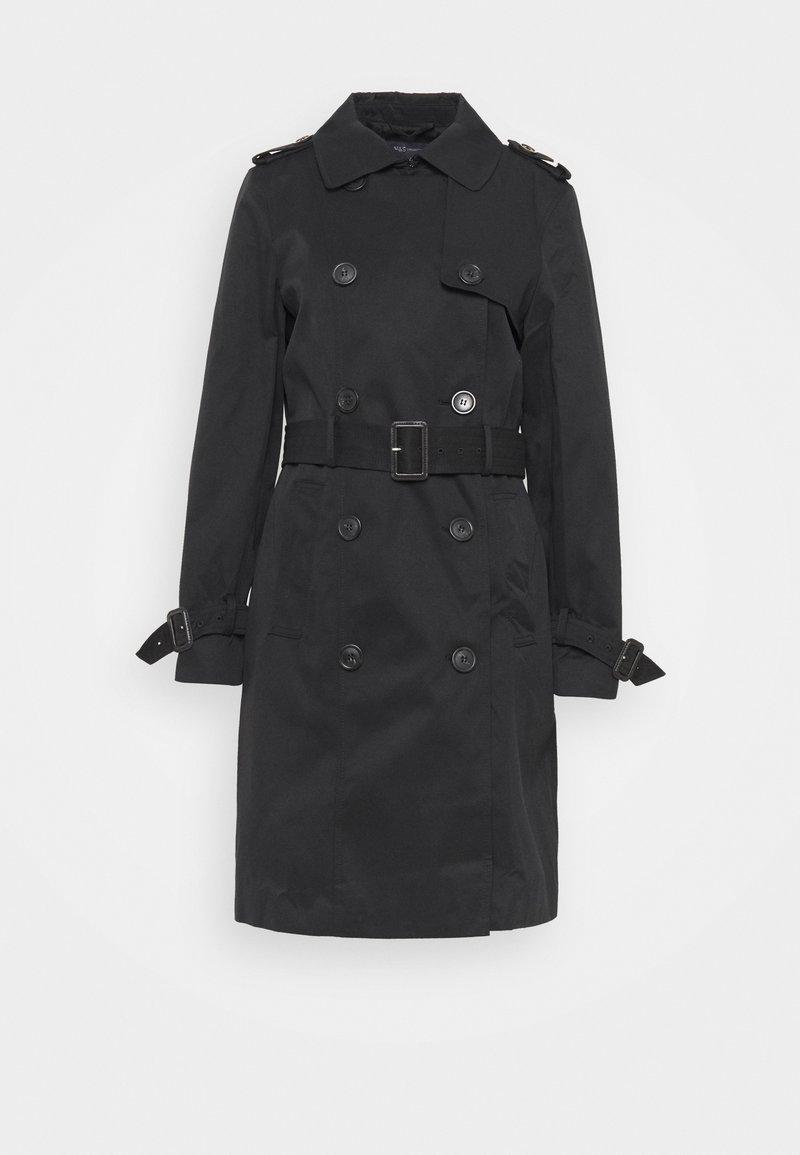 Marks & Spencer London - ESSENTIAL  - Trenchcoat - black