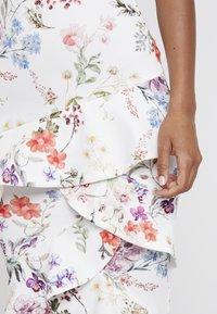 True Violet - BARDOT BODYCON WITH FRILL - Maxi dress - multi-coloured/white - 6
