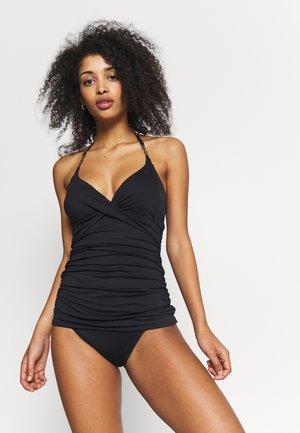 SOLID LOGO CHAIN TANKINI - Bikini top - black