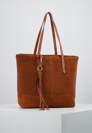 LEATHER - Bolso shopping - cognac