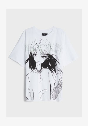 MIT STRASS UND ÄRMELN BILLIE EILISH X - T-shirts print - white
