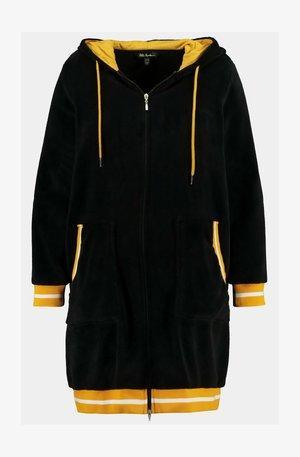 GROSSE GRÖSSEN BADEMANTEL, ATHLEISURE-STYLE, ZIP  - Fleece jacket - schwarz