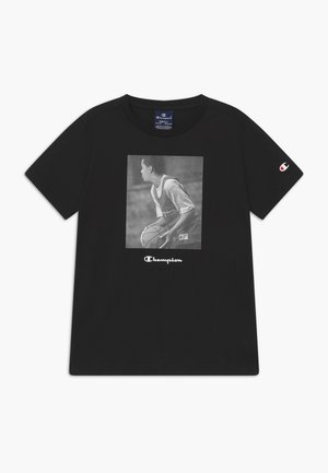 CHAMPION X ZALANDO GRAPHIC - T-shirt z nadrukiem - black