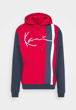 SIGNATURE BLOCK HOODIE - Hoodie - dark red