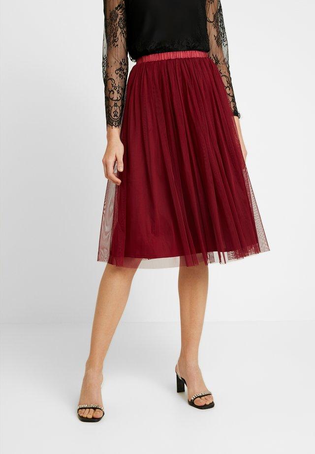VAL SKIRT - A-linjainen hame - burgundy
