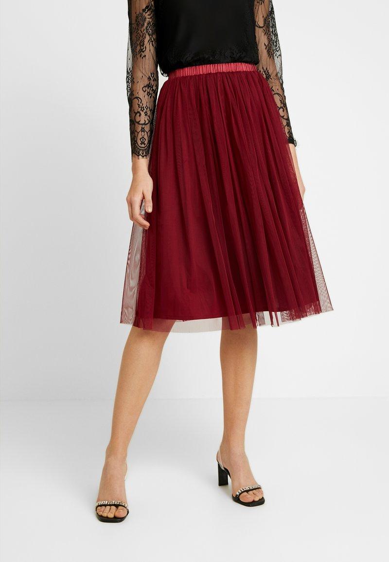 Lace & Beads - VAL SKIRT - A-line skirt - burgundy
