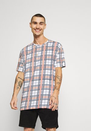JASON - Print T-shirt - white/navy/red