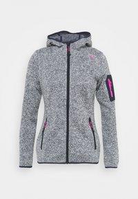 CMP - WOMAN FIX HOOD JACKET - Fleece jacket - titanio/bianco - 4
