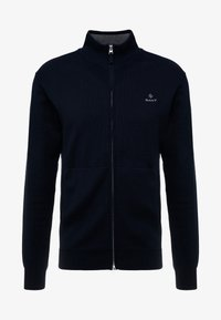 GANT - CLASSIC ZIP CARDIGAN - Kofta - evening blue - 3
