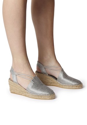 TURIA - Wedge sandals - silver