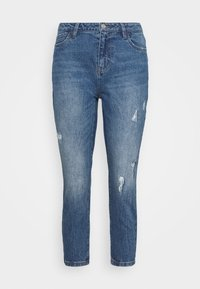 NMOLIVIA - Straight leg jeans - medium blue denim