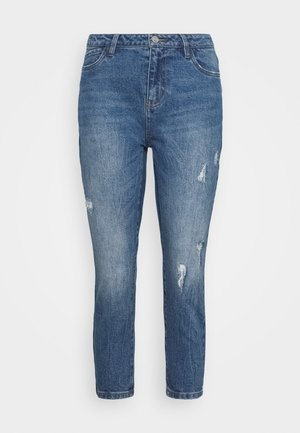NMOLIVIA - Džíny Straight Fit - medium blue denim