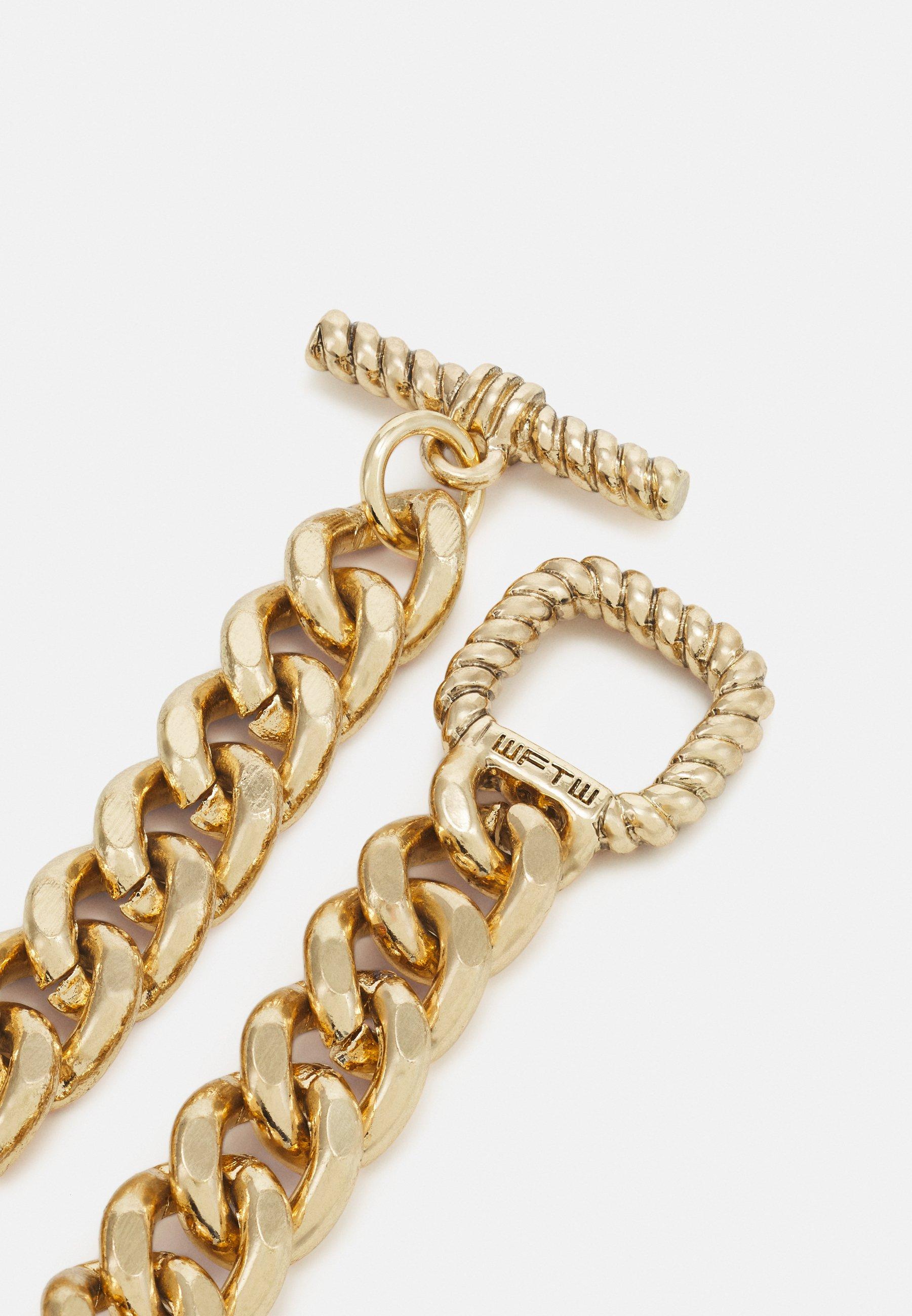 Men CHAIN BRACELET WITH TBAR TEXTURED CLASP - Bracelet
