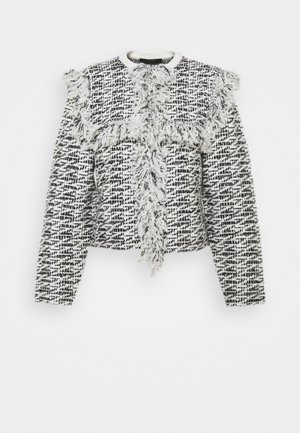 ASHLEY TASSEL JACKET - Summer jacket - black/chalk white