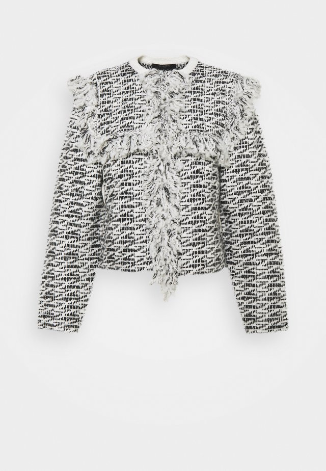 ASHLEY TASSEL JACKET - Tunn jacka - black/chalk white