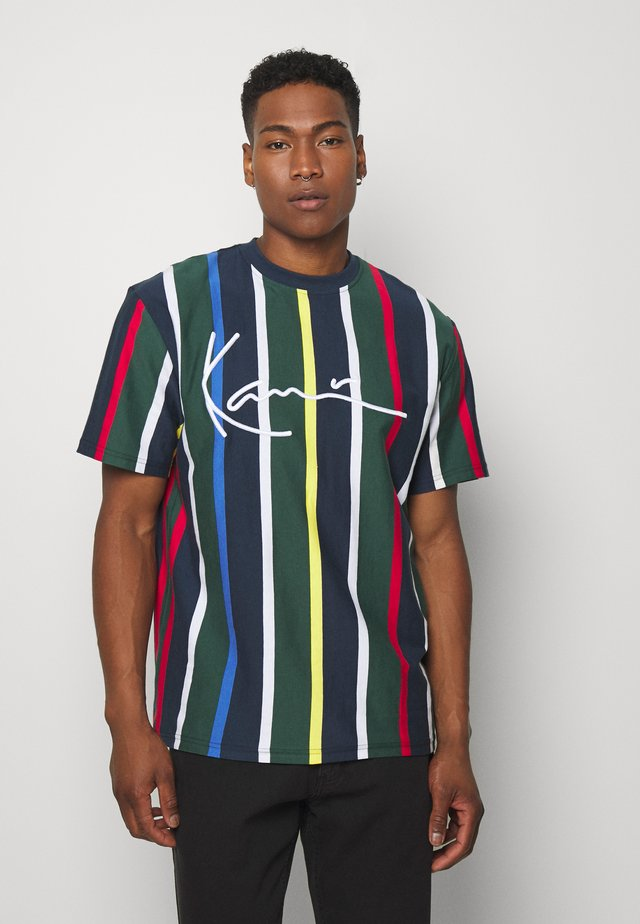 STRIPE TEE - T-shirt con stampa - navy