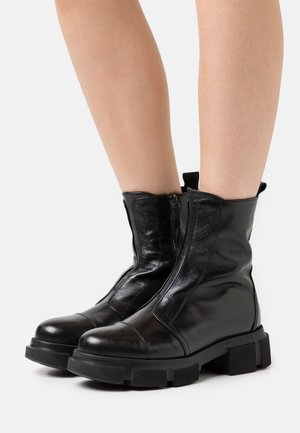 EMY  - Lace-up ankle boots - perly nero
