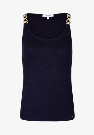 WITH ORNAMENTS - Top - dark blue