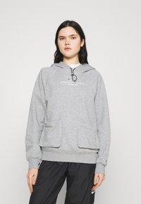Nike Sportswear - HOODIE - Sweatshirt - dark grey heather/white - 0
