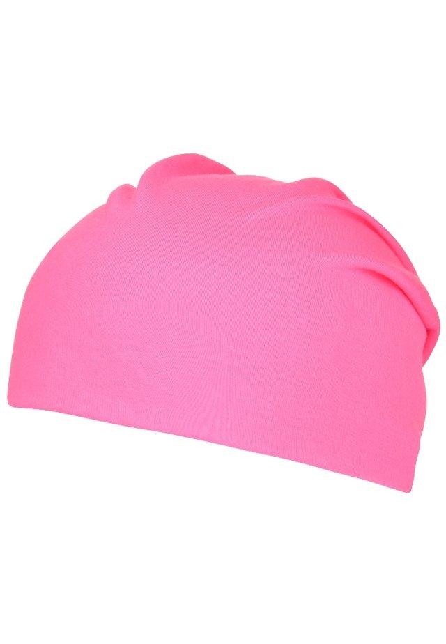 Czapka - neon pink
