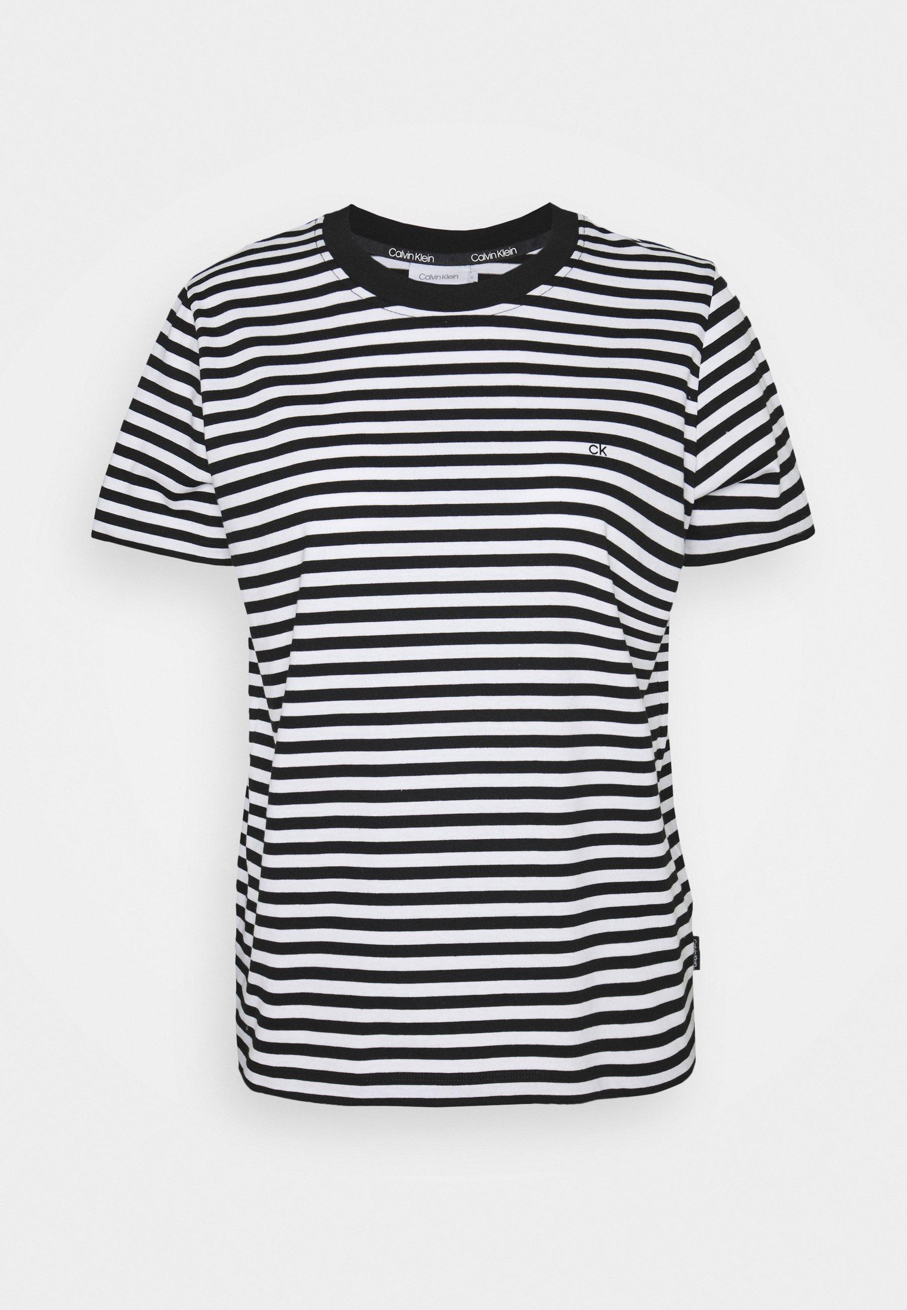 Damen SMALL STRIPE C NECK - T-Shirt print