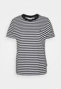Calvin Klein - SMALL STRIPE C NECK - Print T-shirt - black/bright white - 0