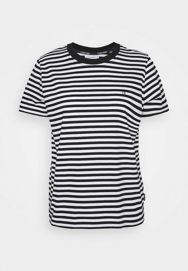 SMALL STRIPE C NECK - Print T-shirt - black/bright white