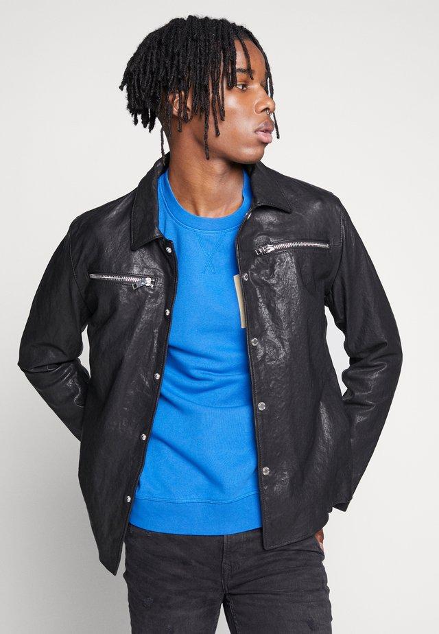 BEMALEK - Leather jacket - black