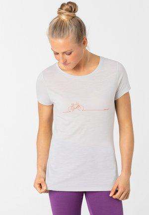 BIKE LINE - Print T-shirt - hellgrau