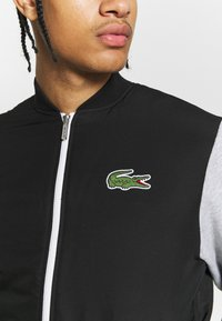 Lacoste Sport - JACKET - Veste de survêtement - black/silver chine/white - 5