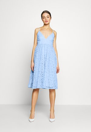 EMBROIDERED STRAP DRESS - Koktejlové šaty / šaty na párty - blue