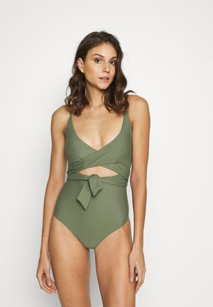 ONE PIECE WRAP SOLID - Costume da bagno - olive fun