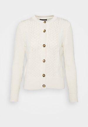 CUTE CABLE CARDI - Vest - beige