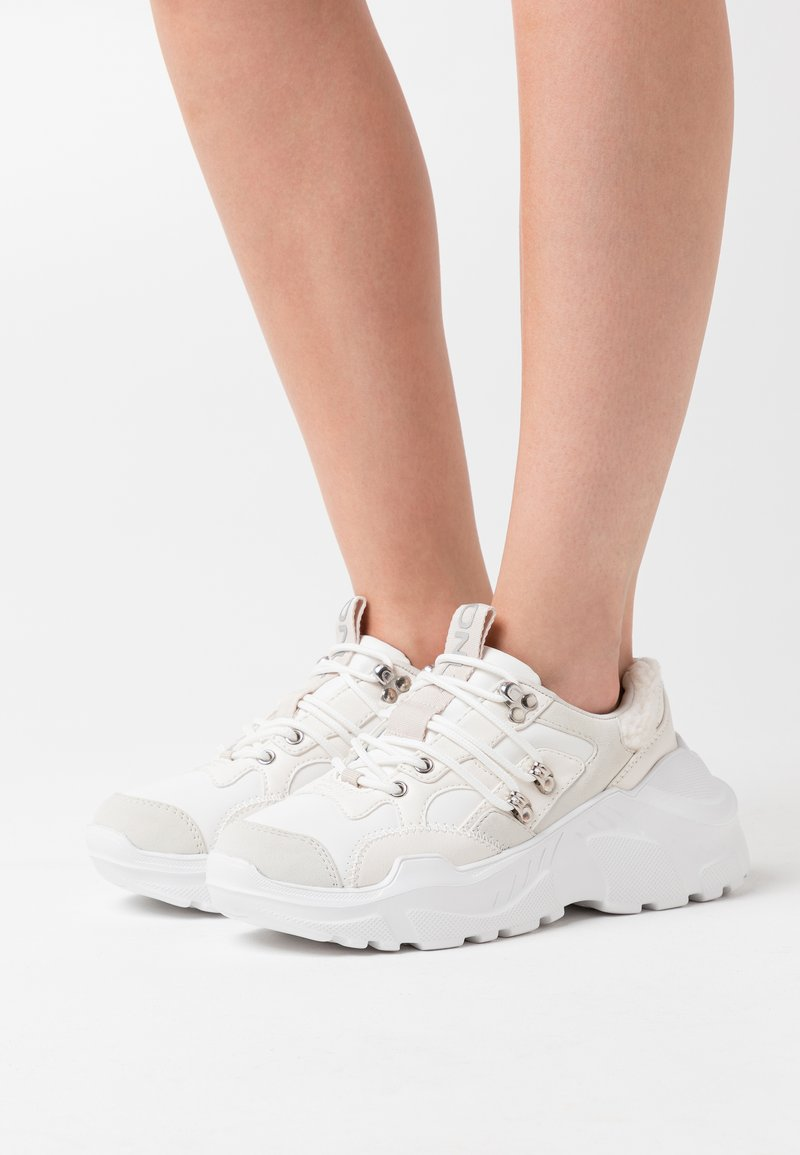 ONLY SHOES - ONLSILVA CHUNKY - Trainers - white