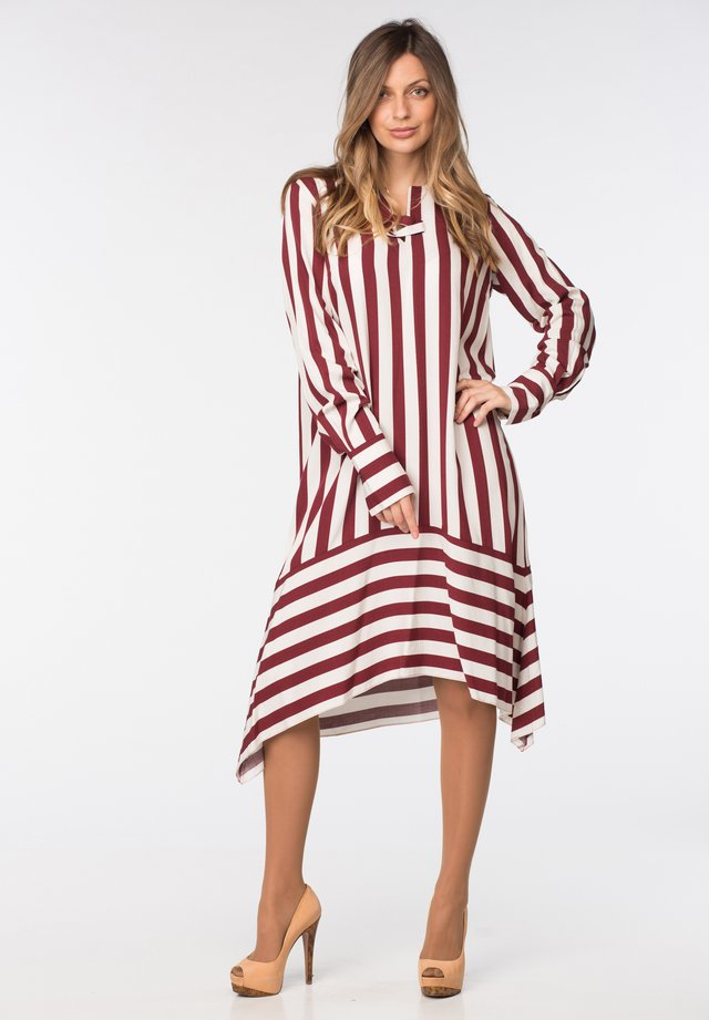 DRESS CHARLET - Shirt dress - red and white stripes