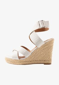ONLY SHOES - ONLAMELIA WRAP  - Korolliset sandaalit - white - 1