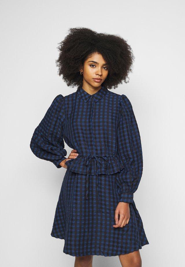PCLUNNA DRESS  - Skjortekjole - black/navy