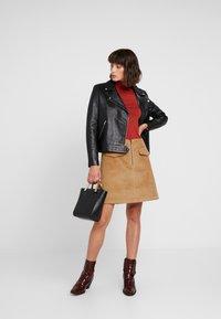 Levete Room - GERTRUD - Áčková sukně - brown clay - 1