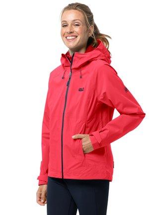 HIGHEST PEAK - Waterproof jacket - tulip red