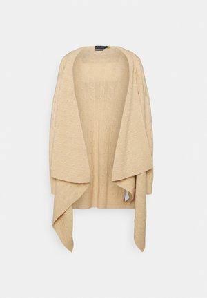 WRAP CARDI LONG SLEEVE - Cardigan - soft tan melange