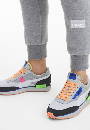 FUTURE RIDER PLAY ON UNISEX - Trainers - high rise-p white-puma black