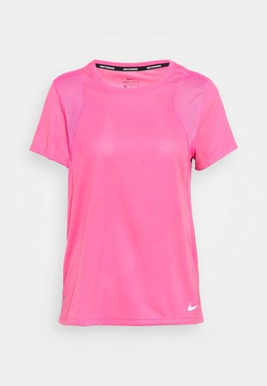 RUN - T-Shirt basic - pink glow/silver