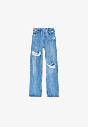 MIT HOHEM BUND UND PASSE - Straight leg jeans - stone blue denim