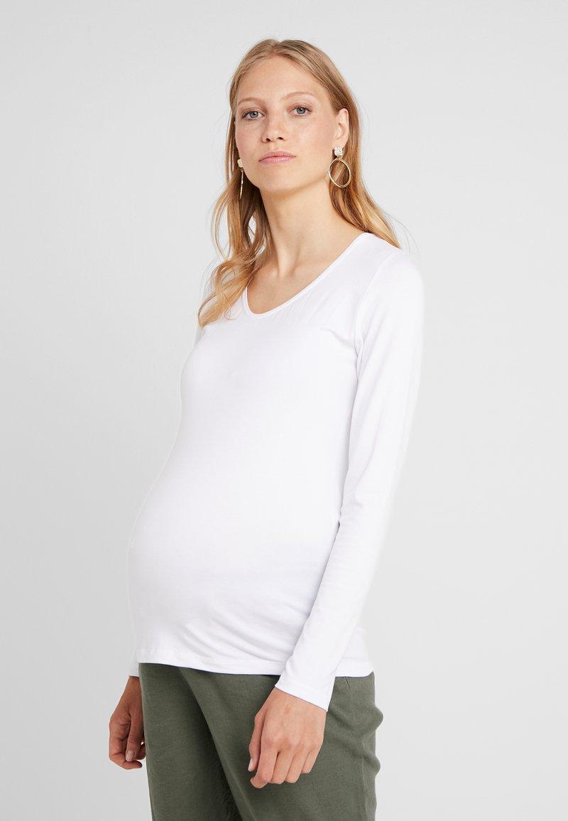 Queen Mum - Bluzka z długim rękawem - white