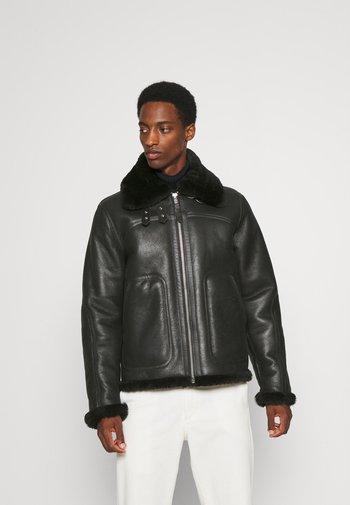 MADISON - Leather jacket - black