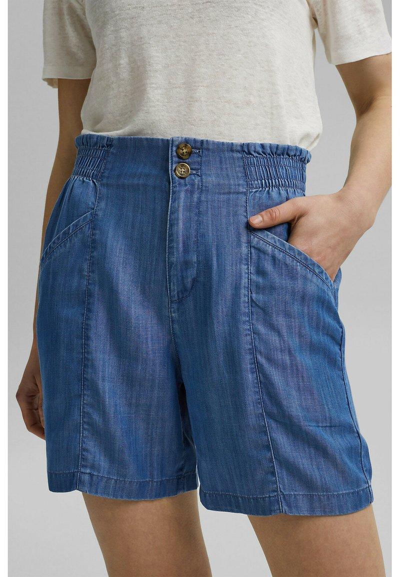 Esprit - Denim shorts - blue medium wash
